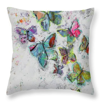 Becoming Free Throw Pillow by Kirsten Reed