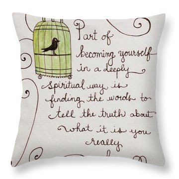 Becoming Yourself Throw Pillow
