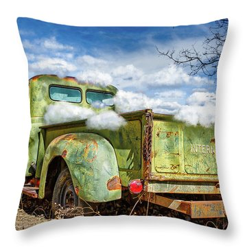 Bed Full Of Clouds Throw Pillow