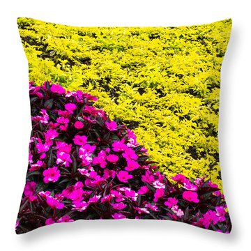 Bed Of Flowers - 1 Throw Pillow