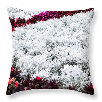 Bed Of Flowers - 2 Throw Pillow