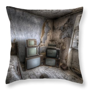 Bed Time Tv Throw Pillow
