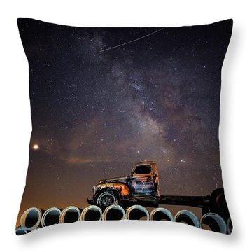 Sleeping Alone Under The Stars  Throw Pillow