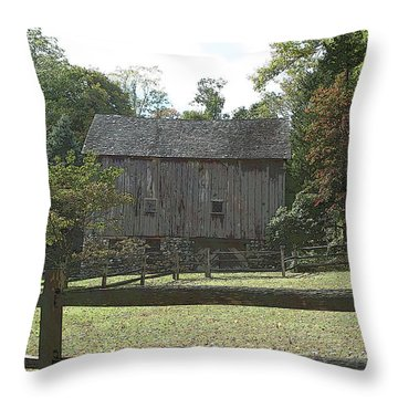 Bedford Barn Throw Pillow