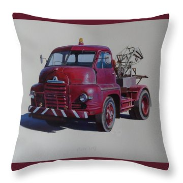 Bedford S Type Wrecker. Throw Pillow by Mike  Jeffries