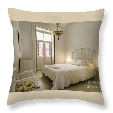 Throw Pillow featuring the photograph Bedroom Apartment In The Heart Of Cadiz by Pablo Avanzini
