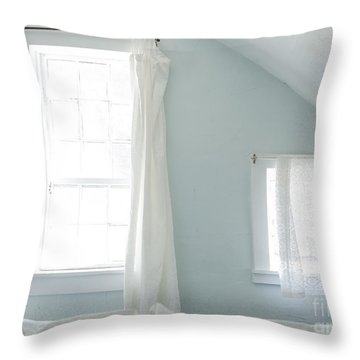 Bedroom Blues Throw Pillow by John Greim