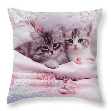 Bedtime Kitties Throw Pillow