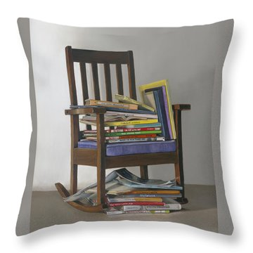 Bedtime Stories Throw Pillow by Gail Chandler