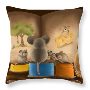 Bedtime Story Throw Pillow by Veronica Minozzi