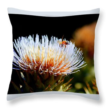 Bee And Artichoke Throw Pillow