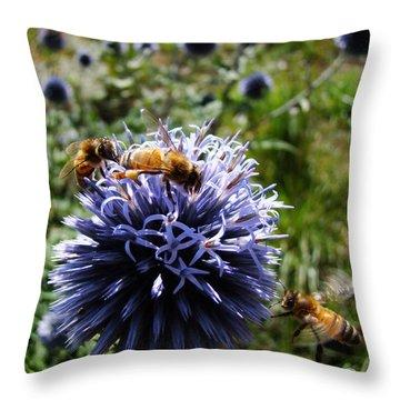 Bee Circles Throw Pillow
