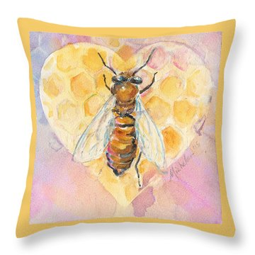 Bee Heart Throw Pillow