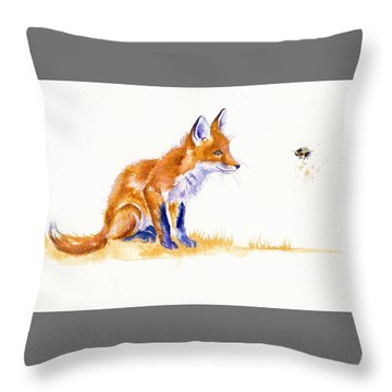 Bee Important Throw Pillow