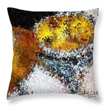 Bee Impression Throw Pillow