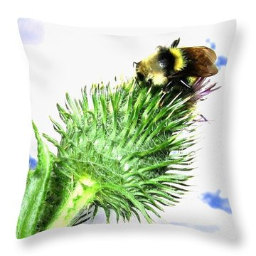 Bee-line 4 Throw Pillow by Will Borden