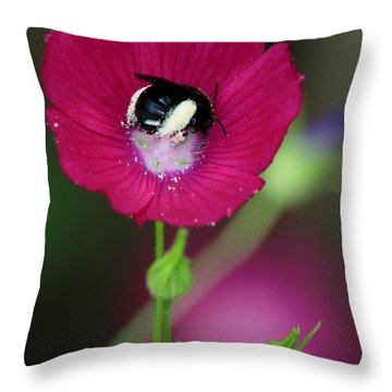 Bee My Guest Throw Pillow