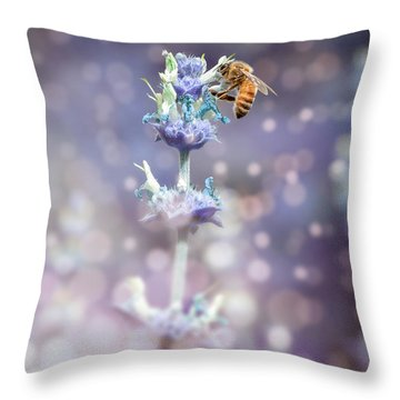 Bee On Top Throw Pillow
