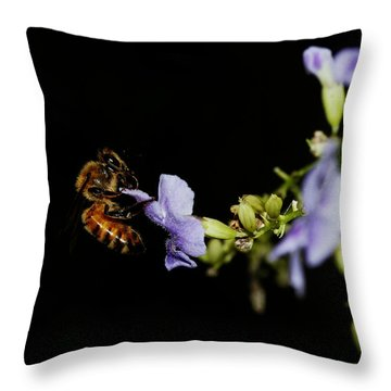 Bee Portrait Throw Pillow