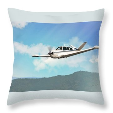 Beechcraft Bonanza V Tail Throw Pillow