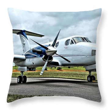 Beechcraft Kingair 2 Throw Pillow
