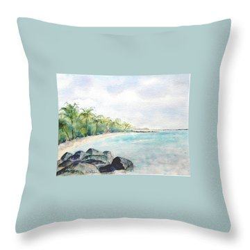 Beef Island Lagoon Throw Pillow