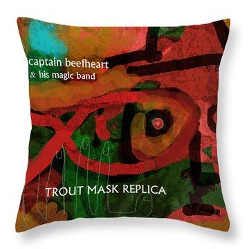 Beefheart Album Cover Throw Pillow