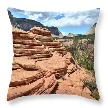 Beehives High Above Zion Throw Pillow