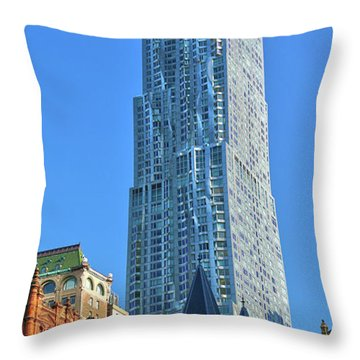 Throw Pillow featuring the photograph Beekman Tower by Mitch Cat