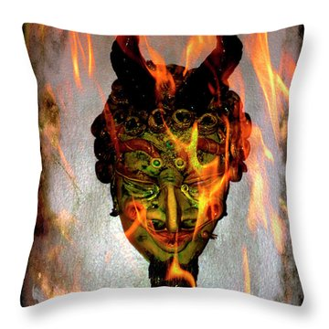 Throw Pillow featuring the photograph Beelzebub Iv by Al Bourassa