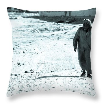 Throw Pillow featuring the photograph Been Doing This Walk For So Many Years by Jez C Self