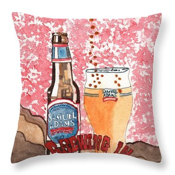 Beer From A Bottle No.6 Throw Pillow