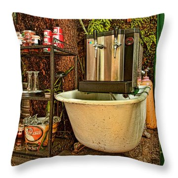 Throw Pillow featuring the photograph Beer Joint by Kim Wilson