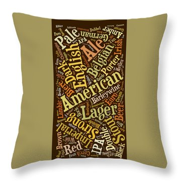 Beer Lover Cell Case Throw Pillow by Edward Fielding
