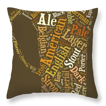 Beer Lovers Tee Throw Pillow