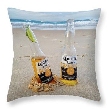 Beer O'clock Throw Pillow