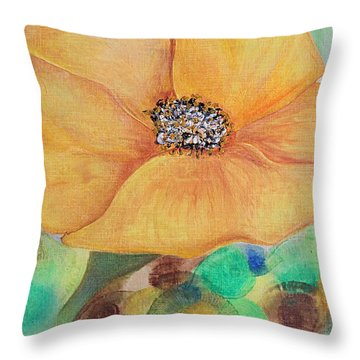 Bees Delight Throw Pillow