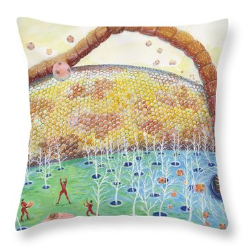 Bee's Eye And Antenna Throw Pillow