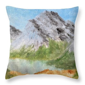 Throw Pillow featuring the painting Bee's Eyed View by Kevin Daly