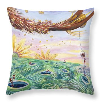 Bee's Foot Throw Pillow