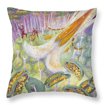 Bee's Tongue Throw Pillow