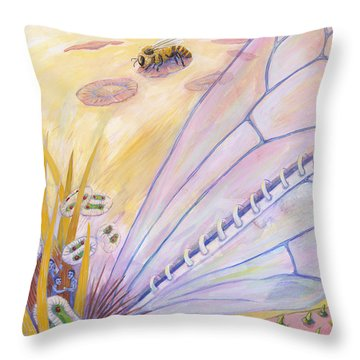 Bee's Wings Throw Pillow