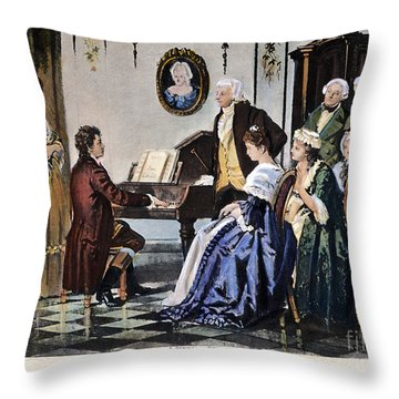 Beethoven & Mozart, 1787 Throw Pillow by Granger
