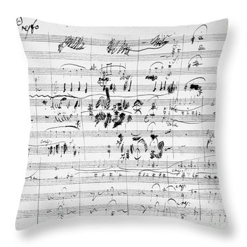 Beethoven: Ghost Trio Throw Pillow by Granger