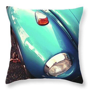 Throw Pillow featuring the photograph Beetle Blue by Rebecca Harman