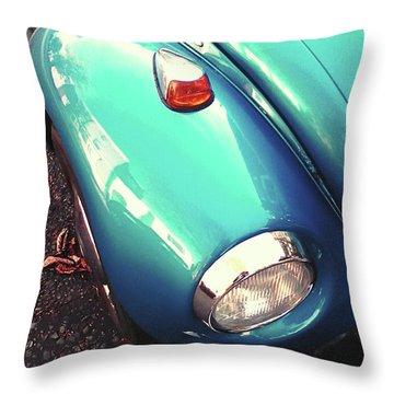 Beetle Blue Throw Pillow by Rebecca Harman