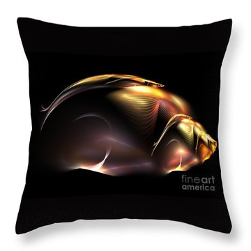 Beetle Throw Pillow by Kim Sy Ok