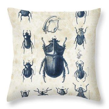 Beetles - 1897 - 02 Throw Pillow