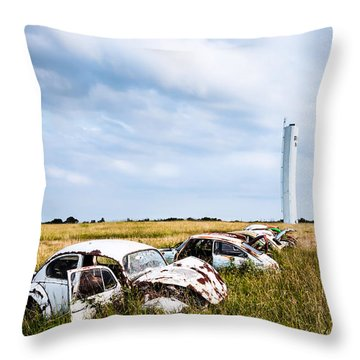 Beetles At Rest Throw Pillow by Lawrence Burry