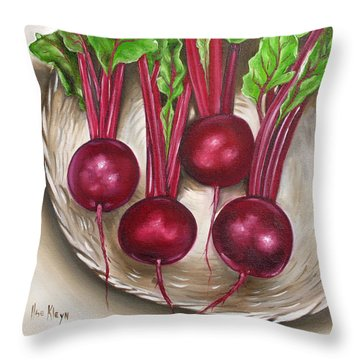 Beetroot Throw Pillow by Ilse Kleyn